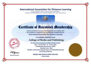 IADL accredition certificate