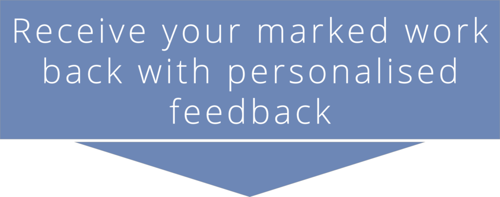 CMP course delivery - Receive your marked work back with personalised feedback