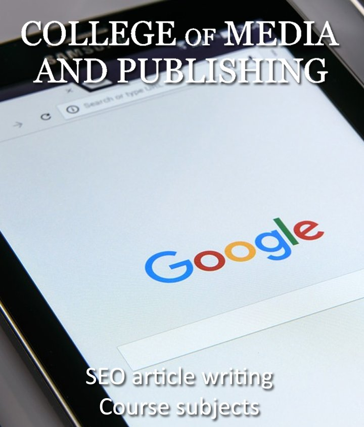 SEO article writing course certificate