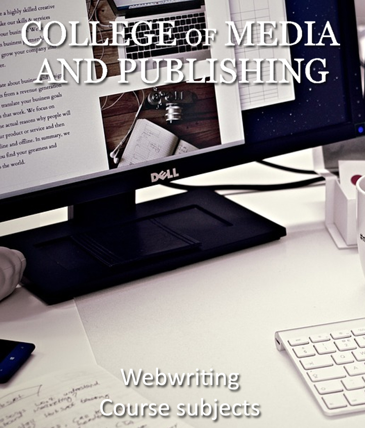 Web writing course students at computer