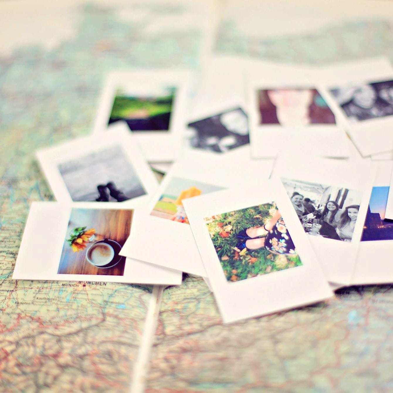 Travel journalism map and photos